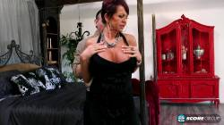 60 Years Old GILF Gina Milano Big Fake Tits Reveal