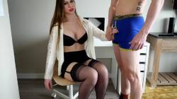 Ashley Alban In Lingerie Puts Her Throat To Work