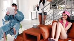 Asian teen cutie tastes stepdads prick while mom sleeps