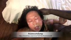 Asiancumdump Eats BBC Cum Off Her Hand Like A Cat