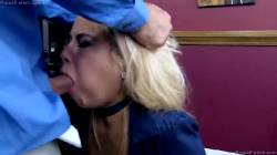 Bimbo Getting Her Mouth Filled