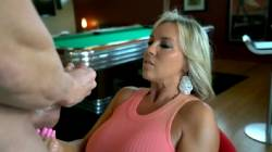 Clothed Big Tit Milf Gets Doused With Fountain Of Cum