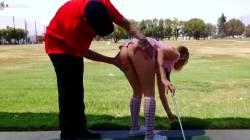Golf Instructor Takes Advantage