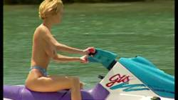 Greta Gives Three Jet Ski Guys A Ride