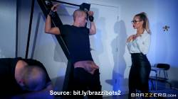 Hot Blonde Brazzibot Nicole Aniston Gives Bounded Guy A Blowjob