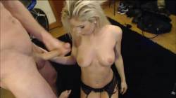 Hot Blonde Takes A Big Facial