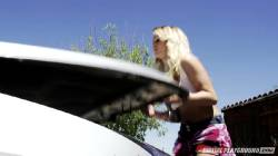 Hot Emily Austin Hardcore Car Repair