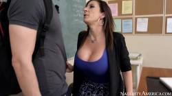 Sara Jay Sucks Students Cock To Raise His Grade