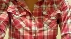Titty Reveal In My Plaid Shirt!