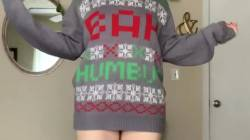 Wearing Only My Xmas Sweater 🎁🎄 OC
